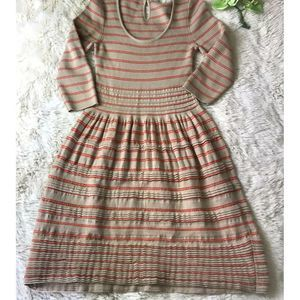 ANTHROPOLOGIE  Knitted & Knotted Dress OrangeTan S
